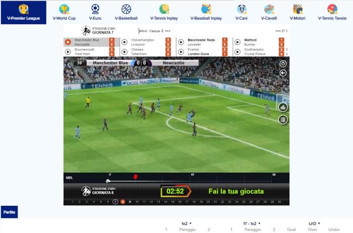 scommesse sul calcio virtuale con sportaza